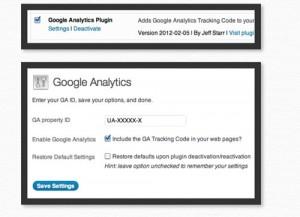GA google analytics wordpress plugin